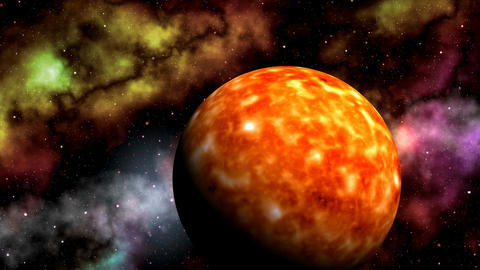 Sun and nebulae Stock Video Footage