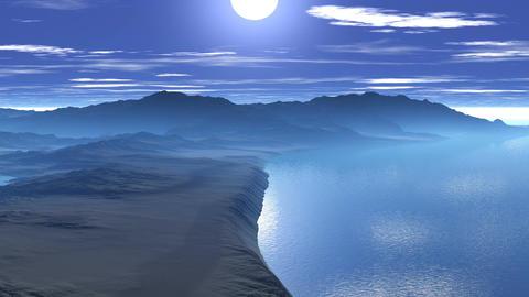 Sunrise over the sea cliffs Animation
