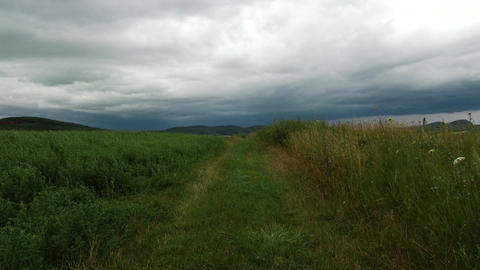 4 K Summer Dull Weather in Kali Basin Hungary 1 Footage