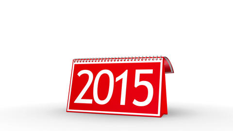 New Year 2015 Calendar (with Matte) Animation