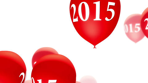 Balloons 2015 Red On White (Loop) stock footage