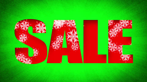 Sale Text Holidays Snow Background (Loop) Animation