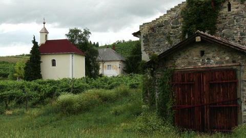Old Roman Catholic Church and Stone House 1 Footage
