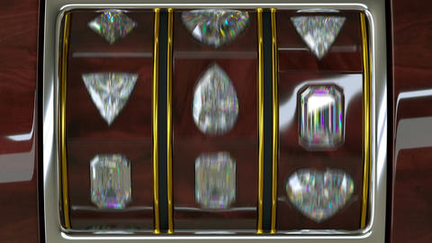 Spinning luxury casino slot machine with diamonds Stock Video Footage
