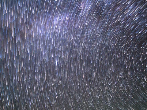 Traces Of The Stars. Panorama. Time Lapse. 640x480 stock footage