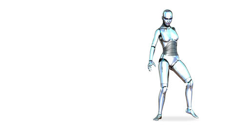Dancing Robot Girl Animation