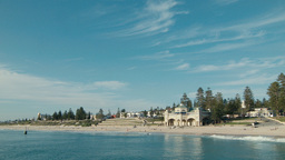Clear Blue Skies Above of Cottesloe Beach in Perth Footage