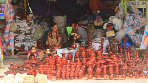 people at market selling good, Asia Footage