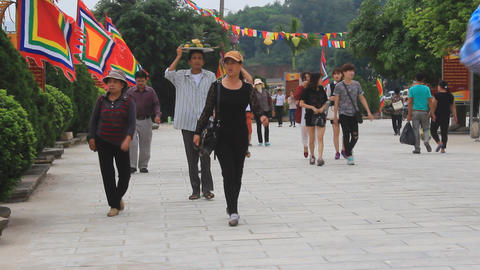 people attended traditional festival, Asia Footage