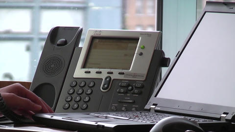 Deskphone stock footage