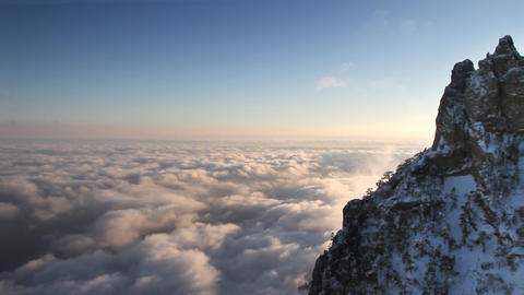 Sunset in the mountains clouds time lapse Stock Video Footage