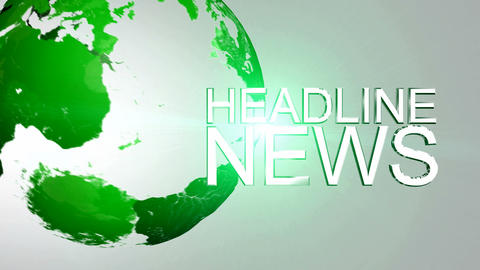 Headline News Animation HD Stock Video Footage