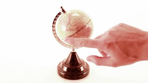 rotating globe Stock Video Footage