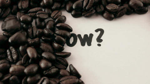 how. written on white under coffee Stock Video Footage