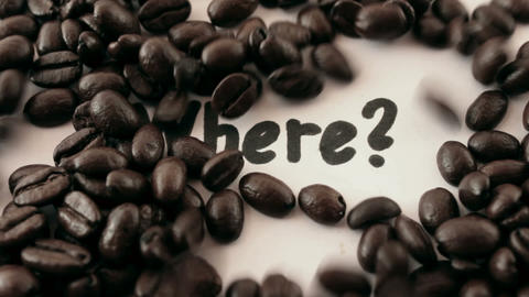 where. written on white under coffee Stock Video Footage