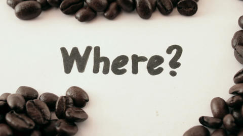 where. written on white under coffee Footage