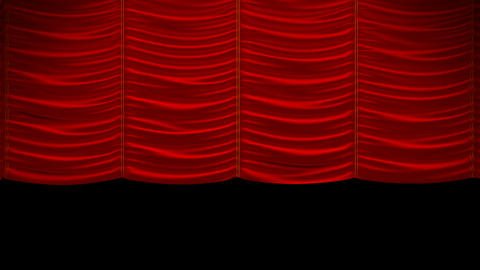 Curtain up, with beautiful cloth pattern. Alpha channel... Stock Video Footage