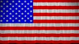 USA Flag Curtain Up. Alpha Channel Is Included stock footage