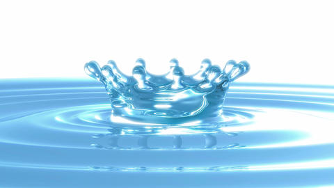 Loopable Rotating splash crown on water surface Stock Video Footage