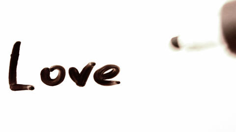 love me. written on white Stock Video Footage
