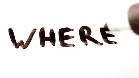 where. written on white Footage