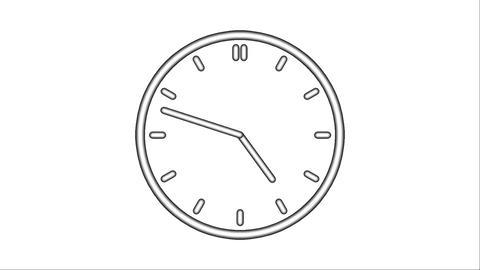 Clock-97C Stock Video Footage