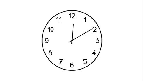Clock-12C Stock Video Footage