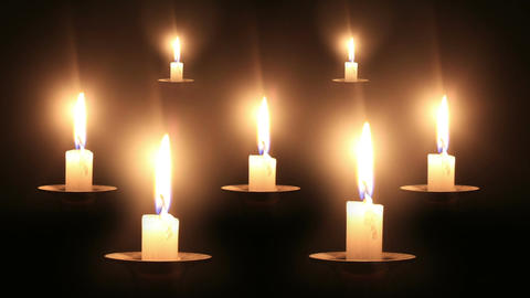Candles Timelapse Stock Video Footage
