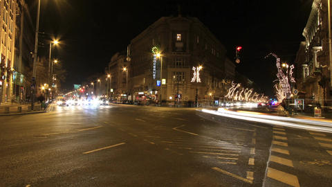 European City At Night Timelapse 08 Stock Video Footage