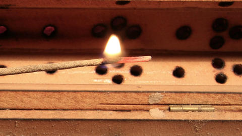 Incense Stick Timelapse 03 Stock Video Footage