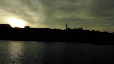 Mistic Sunset in Town ARTCOLORED 01 Stock Video Footage