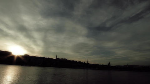 Mistic Sunset in Town ARTCOLORED 03 Stock Video Footage