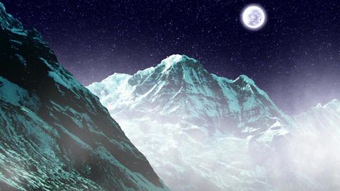 Night Sky Mountains 02 Animation