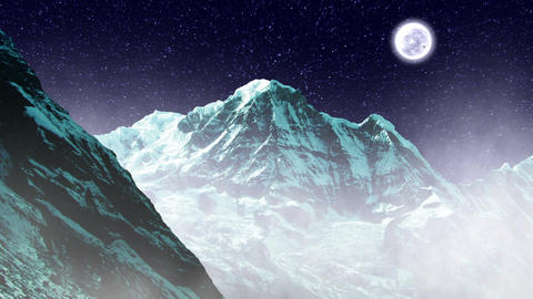 Night Sky Mountains 02 Stock Video Footage