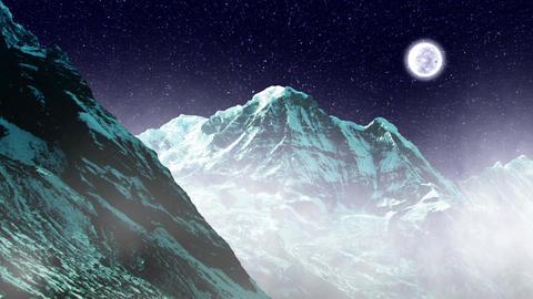 Night Sky Mountains 04 Animation