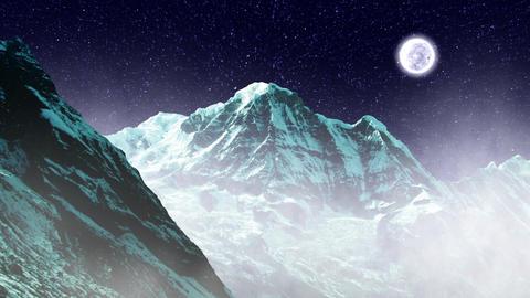 Night Sky Mountains 04 Stock Video Footage