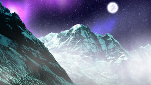 Night Sky Mountains 06 Animation