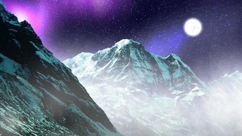 Night Sky Mountains 08 Animation