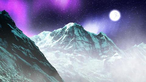 Night Sky Mountains 08 Stock Video Footage