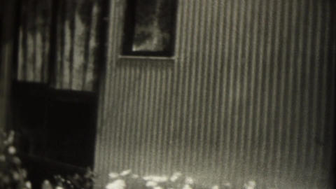 Old weekend house Stock Video Footage