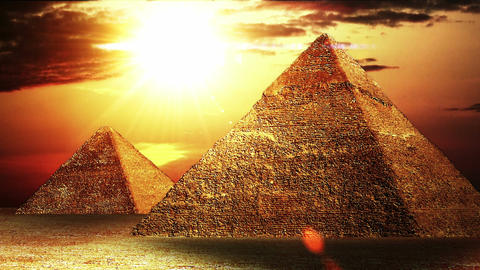 Pyramids 02 Stock Video Footage