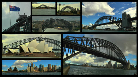 Sydney Splitscreen 02 Stock Video Footage