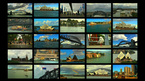 Sydney Splitscreen 04 Stock Video Footage