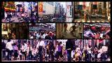 Tokyo Street Spliscreen 01 stock footage