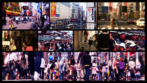 Tokyo Street Spliscreen 01 Footage