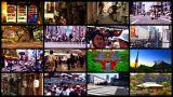 Tokyo Street Spliscreen 03 stock footage