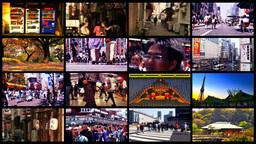 Tokyo Street Spliscreen 03 Stock Video Footage