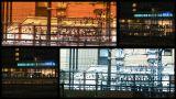 Tokyo Trains Spliscreen stock footage