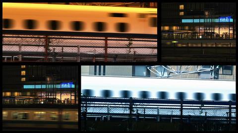 Tokyo Trains spliscreen Footage
