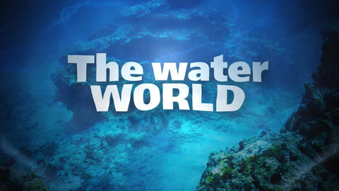 the water world Stock Video Footage